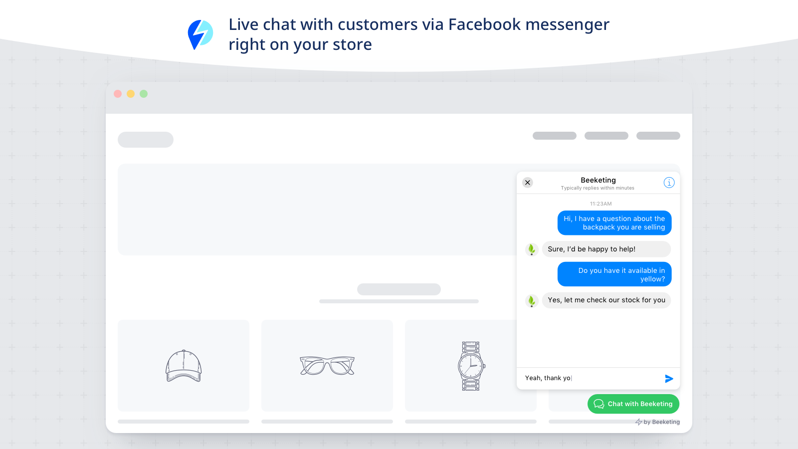 bigcommerce apps quick facebook chat