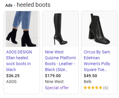 heeled boots search