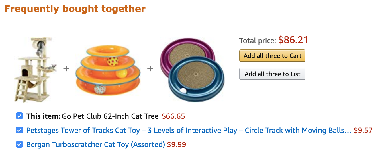 pet supplies frequently bought together on amazon